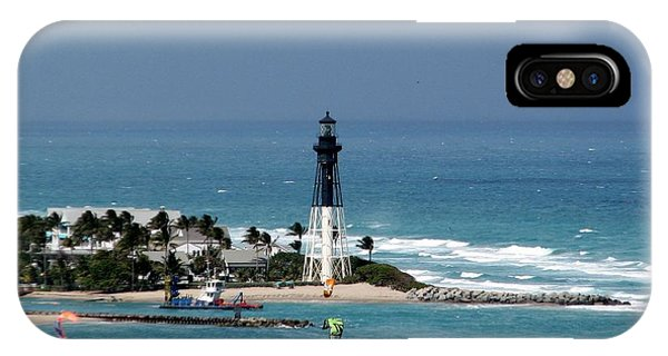 Aqua Water At The Lighthouse IPhone Case