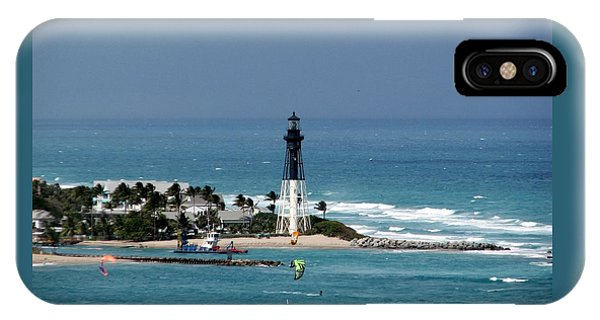 Aqua Water At Hillsboro Lighthouse In Florida IPhone Case