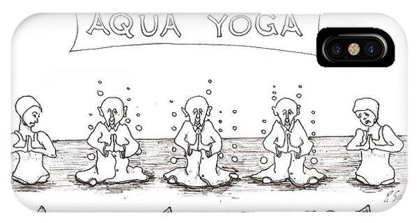 Aqua Yoga IPhone Case
