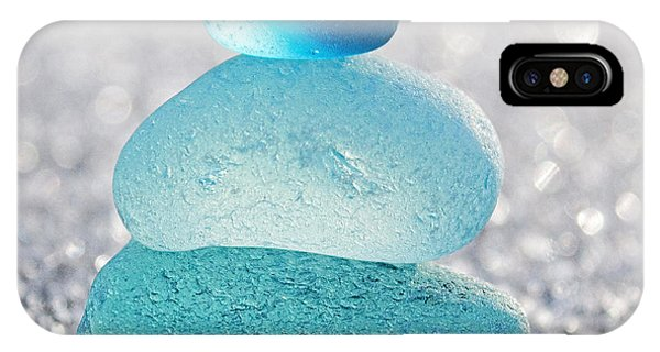 Meditative iPhone Case - Aquamarine Ice by Barbara McMahon