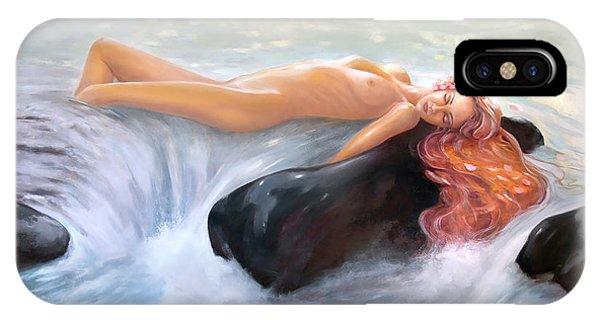 Aquamarine Sea Goddess IPhone Case