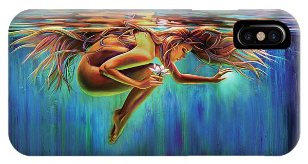 Aquarian Rebirth II Divine Feminine Consciousness Awakening IPhone Case