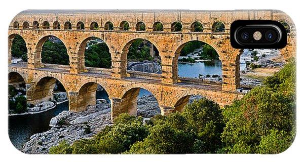 Aqueduct Pont Du Gard IPhone Case