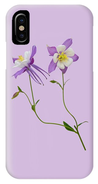 Aquilegia Specimen IPhone Case