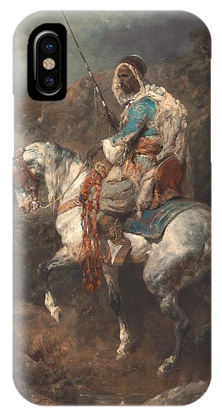Horseman iPhone Case - Arab Horseman by Adolf Schreyer