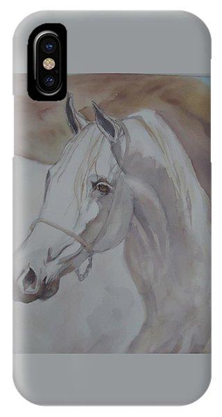 Arab Stallion In The Desert IPhone Case
