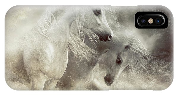 iPhone Case - Arabian Horses Sandstorm by Shanina Conway