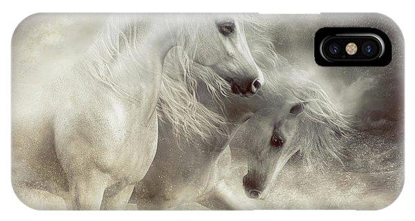 Arabian Horses Sandstorm IPhone Case