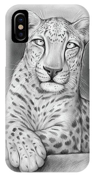 Leopard iPhone Case - Arabian Leopard by Greg Joens