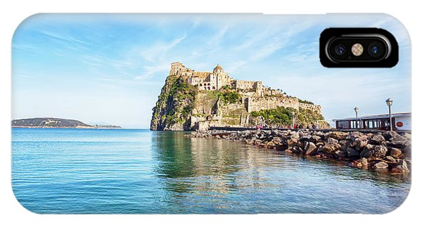 IPhone Case featuring the photograph Aragonese Castle On Ischia by Ariadna De Raadt