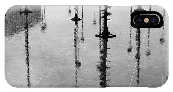 Arbres Lumineux In The Rain Paris  IPhone Case
