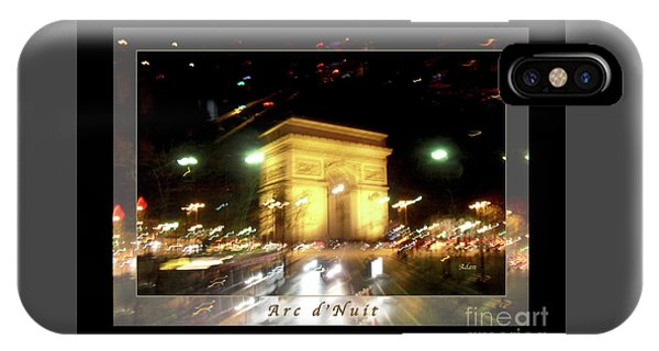 Arc De Triomphe By Bus Tour Greeting Card Poster V1 IPhone Case