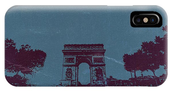 Arc De Triumph Phone Case by Naxart Studio