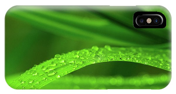 IPhone Case featuring the photograph Arc Of Raindrops by SR Green