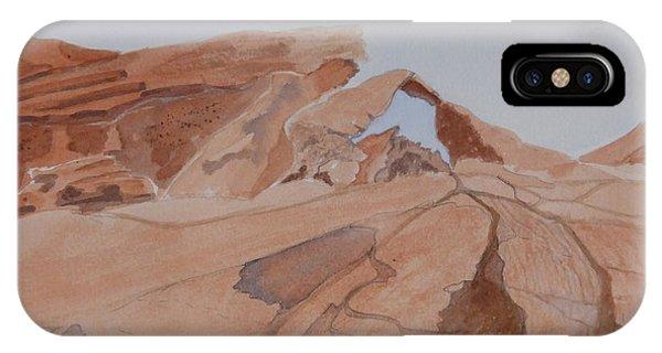 Arch Rock - A Watercolor Sketch IPhone Case