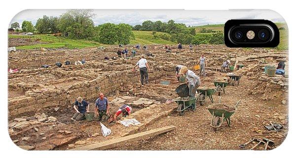 Archaeologists At Work At Roman Vindolanda IPhone Case