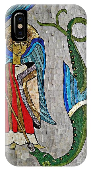 Spirituality iPhone Case - Archangel Michael And The Dragon    by Sarah Loft