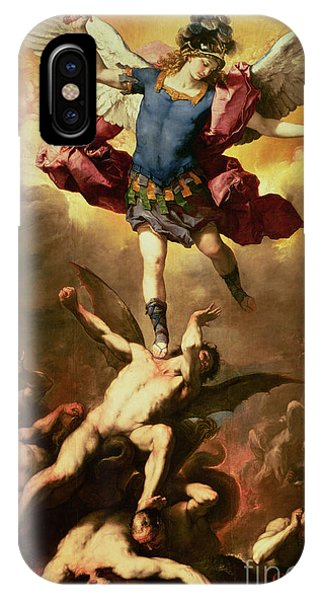 Archangel Michael Overthrows The Rebel Angel IPhone Case