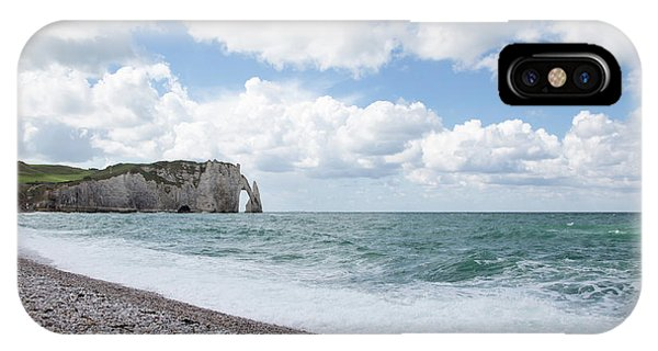Arch At Etretat Beach, Normandie IPhone Case