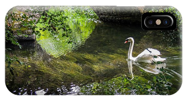 Arched Bridge And Swan At Doneraile Park IPhone Case