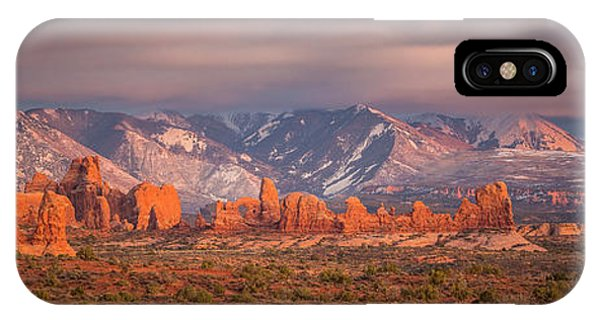 Arches National Park Pano IPhone Case