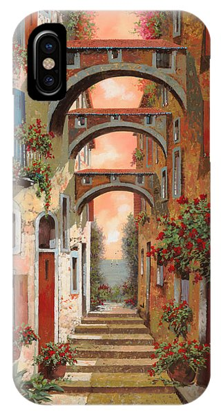 Red Sky iPhone X Case - Archetti In Rosso by Guido Borelli