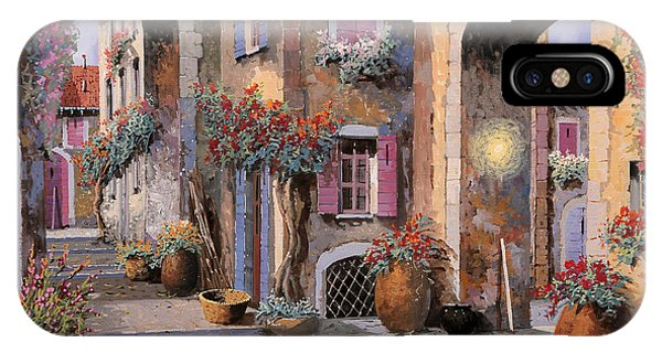Arched iPhone Case - Archi A Toni Viola by Guido Borelli