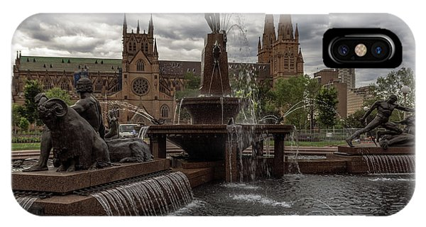 Archibald Fountain And St Mary's Cathedral IPhone Case