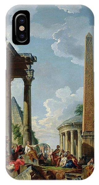 Architectural Capriccio With A Preacher In The Ruins IPhone Case