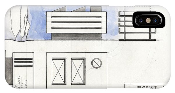 Architectural iPhone Case - Architectural Drawing by Juan Bosco