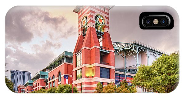Architectural Photograph Of Minute Maid Park Home Of The Astros - Downtown Houston Texas IPhone Case