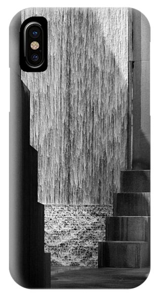 Architectural Waterfall In Black And White IPhone Case