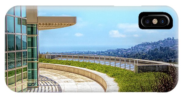 J Paul Getty iPhone Case - Architecture J. Paul Getty Museum California  by Chuck Kuhn