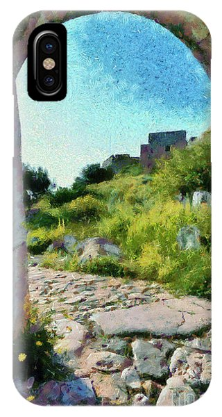 Gateway Arch iPhone Case - Archway On Palamidi Castle by George Atsametakis