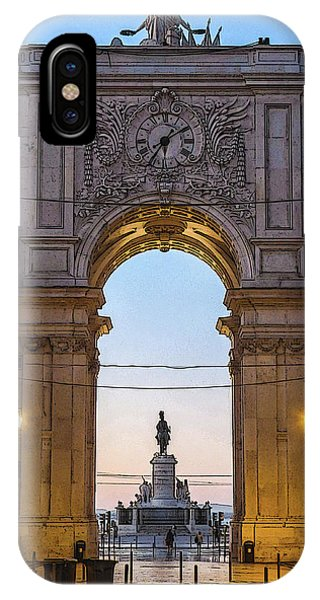 Arco Da Rua Augusta At Sunrise IPhone Case