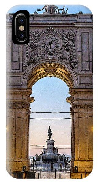 Arco Da Rua Augusta At Sunrise IPhone Case