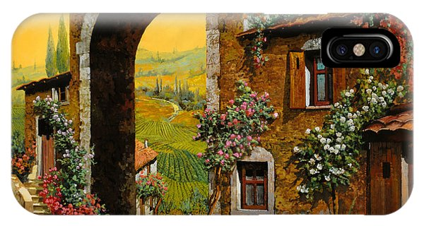 Arched iPhone Case - Arco Di Paese by Guido Borelli