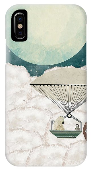 Hot Air Balloons iPhone Case - Arctic Explorers by Bri Buckley