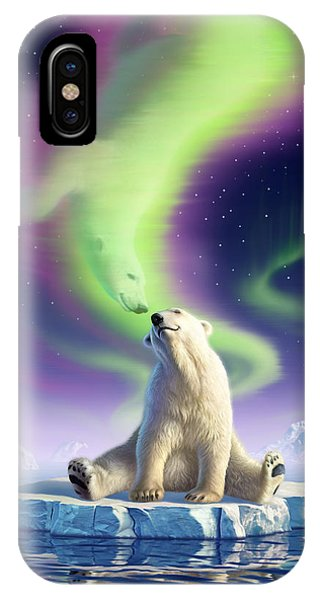 Bear iPhone Case - Arctic Kiss by Jerry LoFaro