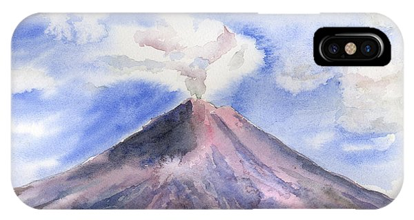 Arenal Volcano Costa Rica IPhone Case