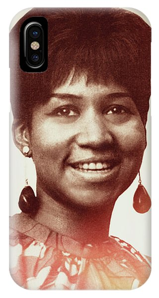 IPhone Case featuring the digital art Aretha Franklin I Say A Little Prayer by Anthony Murphy