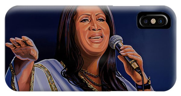 Rights iPhone Case - Aretha Franklin Painting by Paul Meijering