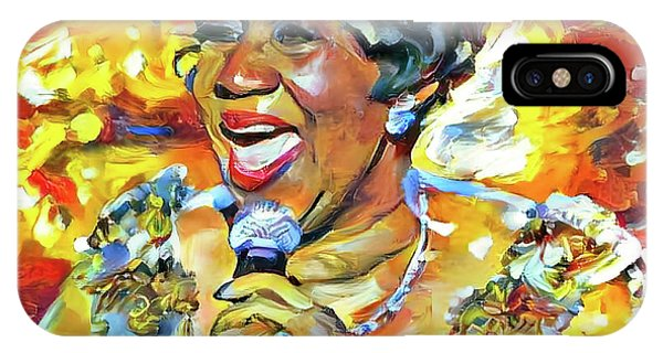 Tribute iPhone Case - Aretha Franklin Tribute Portrait by Yury Malkov