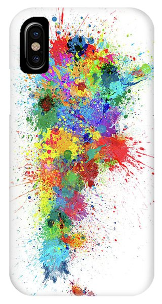 Argentina iPhone X Case - Argentina Paint Splashes Map by Michael Tompsett