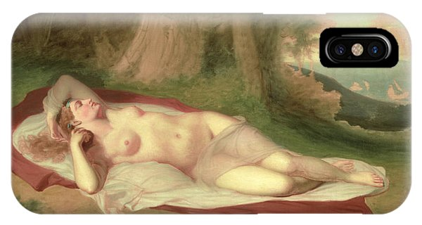 Sleeper iPhone Case - Ariadne Asleep On The Island Of Naxos by John Vanderlyn