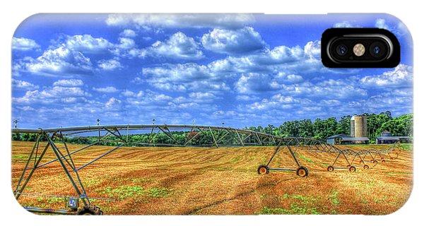 Arificial Rain Jack Curtis Farm Art IPhone Case