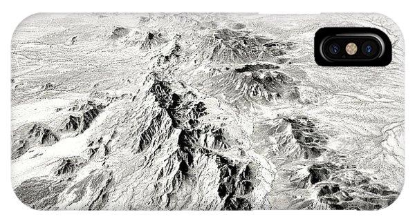 Arizona Desert In Black And White IPhone Case