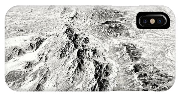 Arizona Desert In Black And White IPhone Case