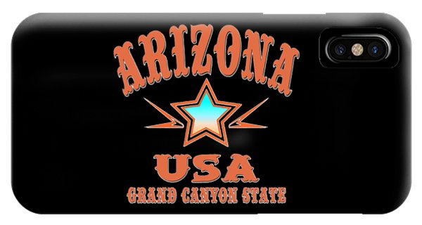 Sports Clothing iPhone Case - Arizona Grand Canyon State Design by Peter Potter