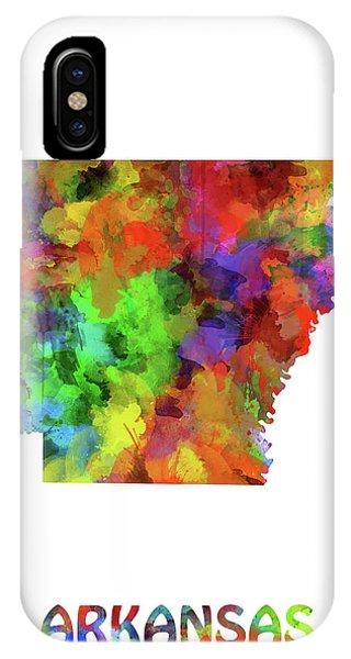 Arkansas Map Watercolor IPhone Case